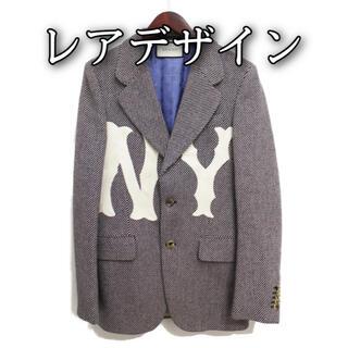 グッチ(Gucci)の✨美品✨GUCCI NY ニューヨーク エンブロイダリー ジャケット 44(テーラードジャケット)