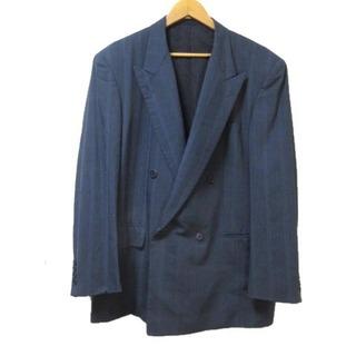 クリスチャンディオール(Christian Dior)のクリスチャンディオールMONSIEUR テーラードジャケット ダブル 紺 AB6(テーラードジャケット)