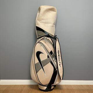 ナイキ(NIKE)の【良品】NIKE ナイキ ゴルフ キャディーバッグ ゴルフバッグ アイボリー×黒(バッグ)