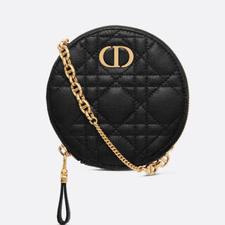 Christian Dior - DIOR CARO ラウンドポーチ カナージュ カーフスキン