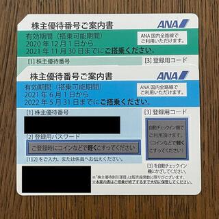 エーエヌエー(ゼンニッポンクウユ)(ANA(全日本空輸))のANA★株主優待2枚セット(航空券)