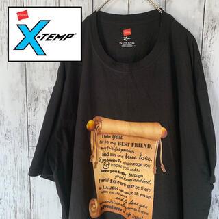 ヘインズ(Hanes)の【極美品】US ヴィンテージ 古着 Hanes X-TEMP巻物 半袖 Tシャツ(Tシャツ/カットソー(半袖/袖なし))