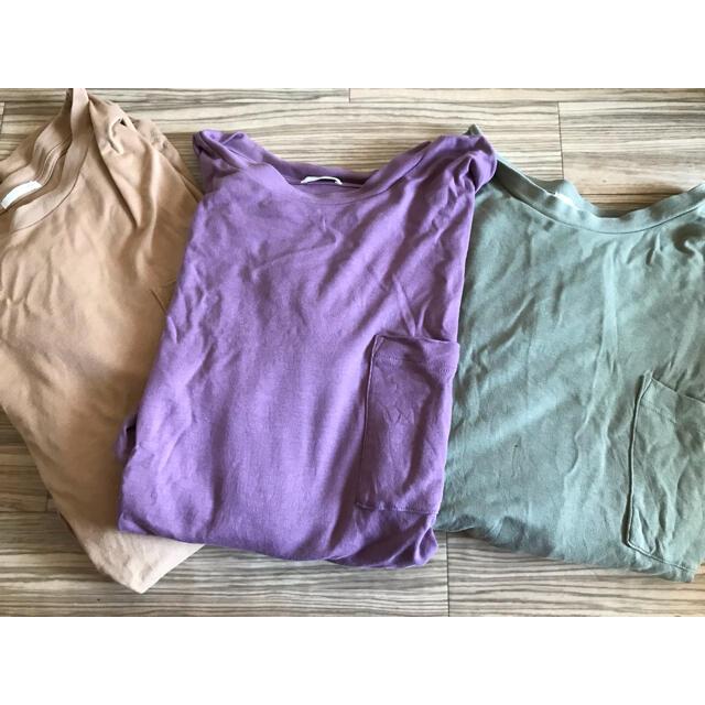 GU(ジーユー)のルーズフィットT(5分袖) GU XXLサイズ XLサイズ 3点まとめ売り メンズのトップス(Tシャツ/カットソー(半袖/袖なし))の商品写真
