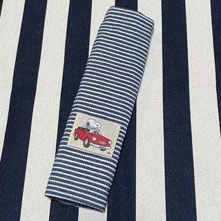 スヌーピー(SNOOPY)のSNOOPY  オープンカー 赤 タグ 水筒カバー シートベルトカバー(外出用品)