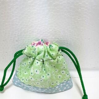 花柄 ミニ巾着袋(外出用品)