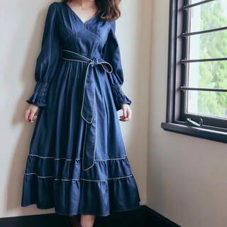 Signs of Autumn Belted Dress herlipto
