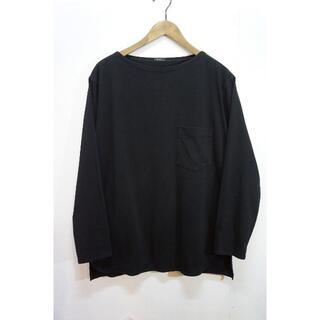 コモリ(COMOLI)のCOMOLI コモリ 長袖 ボートネック カットソー バスシャツ 黒 810L▲(Tシャツ/カットソー(七分/長袖))