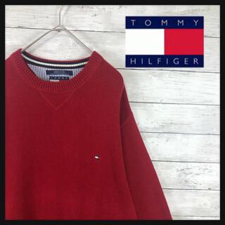 TOMMY HILFIGER - 90.vintageトミーフィルガーワンポイントロゴ刺繍今季トレンドカラーボルド