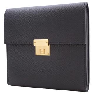 エルメス(Hermes)のエルメスコンパクト財布 クリック12 エプソン ブラック黒 4080200567(財布)