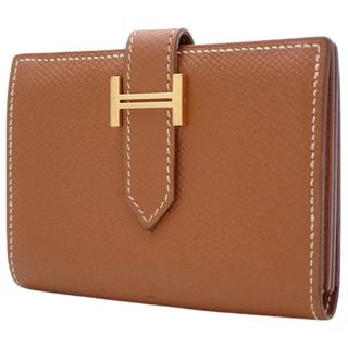 Hermes - エルメス ベアン カードケース エプソン ゴールド 茶 40802005323