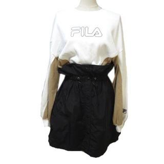 フィラ(FILA)のフィラ  ×SNIDEL コラボ 18AW ワンピース 長袖 黒 白 ベージュ (その他)