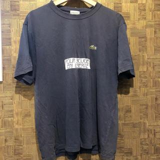 LACOSTE - ラコステ Tシャツ ネイビー メンズ 綿100% 3