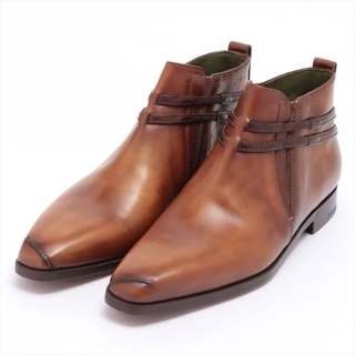ベルルッティ(Berluti)のベルルッティ カリグラフィ レザー 9 1/2 ブラウン メンズ ブーツ(ブーツ)
