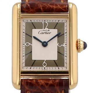 カルティエ(Cartier)のカルティエ マストタンク ヴェルメイユ 1613 クォーツ レディース 【中古】(腕時計)