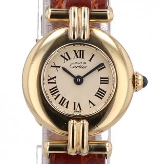 カルティエ(Cartier)のカルティエ マストコリゼ ヴェルメイユ 1902 クォーツ レディース 【中古】(腕時計)
