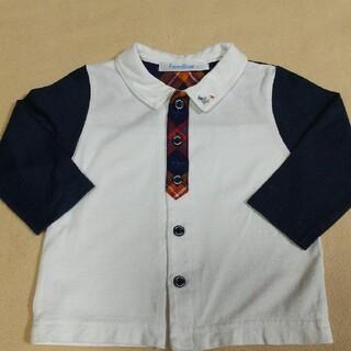 familiar - ファミリア 長袖シャツ 80 ポロシャツ 飛行機 チェック ネクタイ
