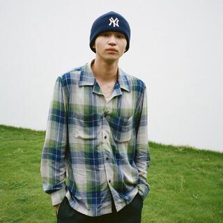 STUSSY - 中田圭祐着用 未開封 stussy rayon plaid shirt XL