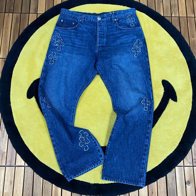 Chrome Hearts(クロムハーツ)のchrome hearts denim patch デニムパンツ メンズのパンツ(デニム/ジーンズ)の商品写真