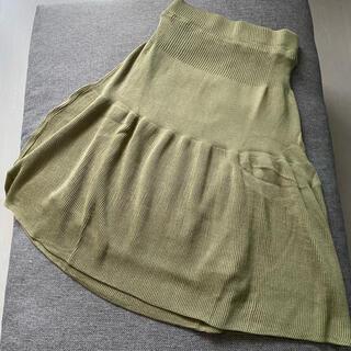 アンティカ(antiqua)のニットスカート(ひざ丈スカート)