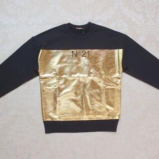 ヌメロヴェントゥーノ(N°21)の【新品・未使用】N°21 KIDS ロゴメタリックスウェットシャツ 14Y(Tシャツ/カットソー)