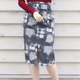 ダズリン(dazzlin)のカタログ掲載 人気 ☆ dazzlin バリエーションチェックナロー スカート(ひざ丈スカート)
