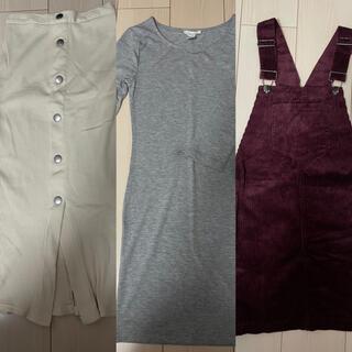 エイチアンドエム(H&M)のレディース スカート ワンピース トップス サロペット 女の子 (ひざ丈ワンピース)