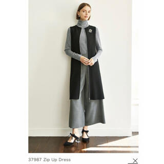 "FOXEY - フォクシー ""ZIP UP DRESS""  ジレ ニット ワンピース"
