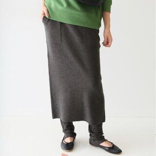 イエナスローブ(IENA SLOBE)のslobe iena ウォッシャブルニットレイヤードレギンススカート (ロングスカート)