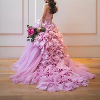 ヴェラウォン(Vera Wang)のVERA WANG pink hayley US0~2(ウェディングドレス)