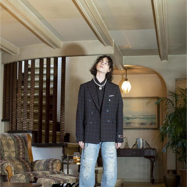 Jieda(ジエダ)のDAIRIKU/Repair Straight Denim Pants 21AW メンズのパンツ(デニム/ジーンズ)の商品写真