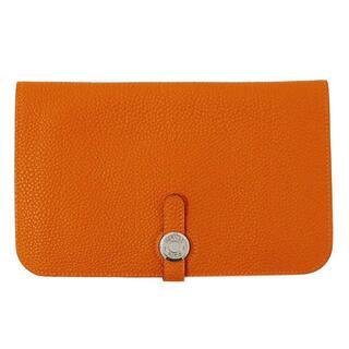 エルメス(Hermes)のエルメス ドゴン デュオ トゴ SV金具 オレンジ 長財布 レディース □I刻印(財布)