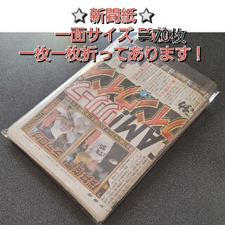 新聞紙 まとめ売り 一面サイズ(印刷物)