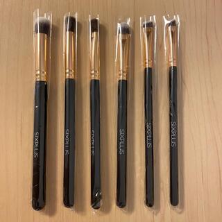 新品未使用 SIXPLUS シックスプラス メイクブラシ 6本セット ブラック