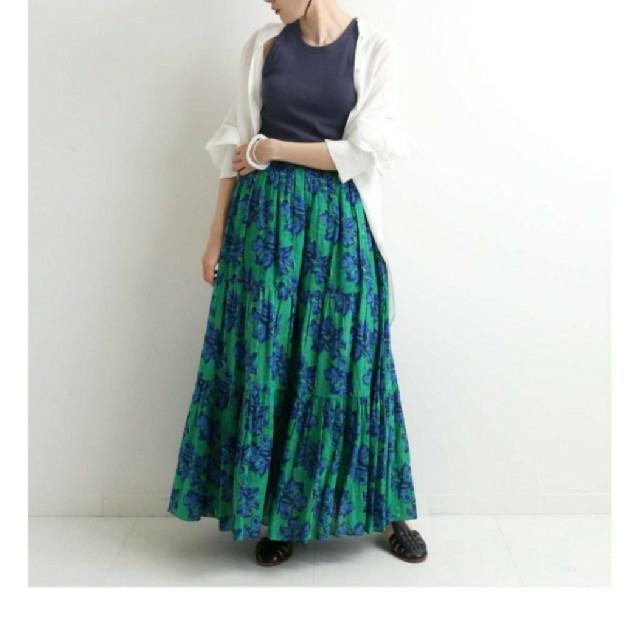 IENA(イエナ)のsara mallika サラマリカ IENA ブロックプリントフラワースカート レディースのスカート(ロングスカート)の商品写真