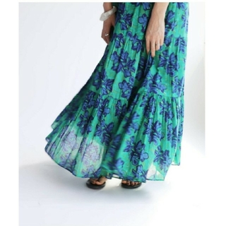 IENA - sara mallika サラマリカ IENA ブロックプリントフラワースカート
