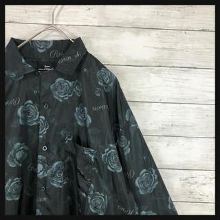【ブラックロータス 総柄黒バラシャツ】 ガラシャツ 美品定価32000円(シャツ)