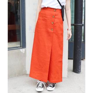 イエナスローブ(IENA SLOBE)の【未使用正規品】SLOBE IENA ロングスカート ファッション リネン素材(ロングスカート)