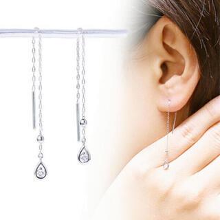 ジュエリーツツミ(JEWELRY TSUTSUMI)の新品☆ジュエリーツツミ K18WG ダイアモンド アメリカン ピアス(ピアス)