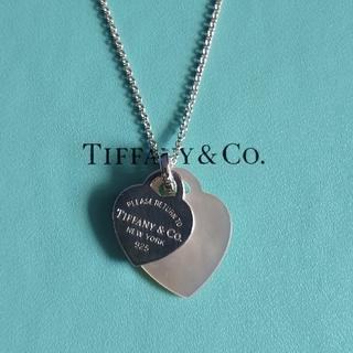 Tiffany & Co. - ティファニー リターントゥ ダブル ハート シェル ネックレス シルバー