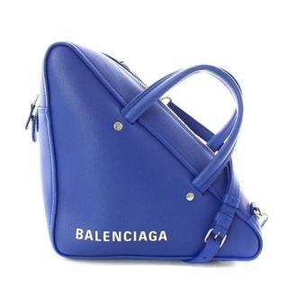 バレンシアガ(Balenciaga)のバレンシアガ トライアングル ダッフル ショルダーバッグ ハンドバッグ 青(ショルダーバッグ)