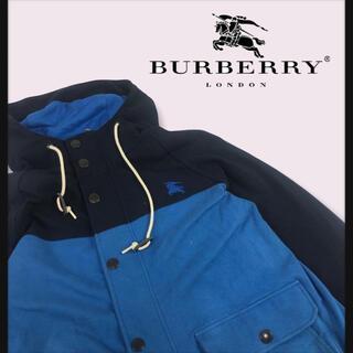 BURBERRY - 【90年代OLDBURBERRY】フルジップフーディーパーカーワンポイント刺繍
