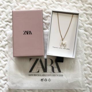 ZARA - ZARA パール イニシャル ネックレス M 新品