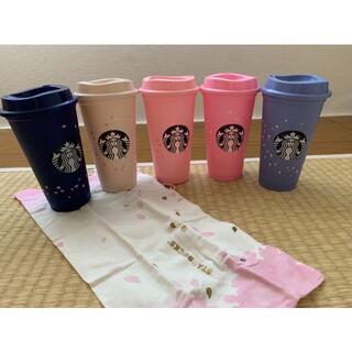 スターバックスコーヒー(Starbucks Coffee)のスターバックス 海外台湾 スターバックス 桜のリュザーブルカップ 5点セット(タンブラー)