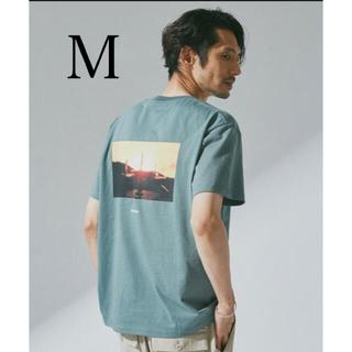 nano・universe - ナノユニバース Tシャツ 新品 未使用 M ブルーグリーン