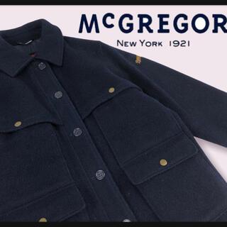 マックレガー(McGREGOR)の【80年代Mc GREGOR】ハンティングジャケットスナップボタン彫刻ロゴ彫り(ミリタリージャケット)