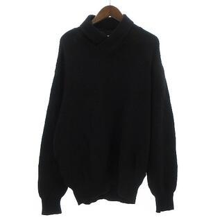 ランバン(LANVIN)のランバン LANVIN セーター ニット 長袖 ウール混 黒 ブラック 50(ニット/セーター)
