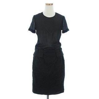 グッチ(Gucci)のグッチ ワンピース 半袖 ひざ丈 ドレス 薄手 268335 ウール 黒 36(その他)