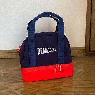 ビームス(BEAMS)のビームスゴルフ BEAMS GOLF 保冷付 カートバッグ ネイビー×レッド(バッグ)