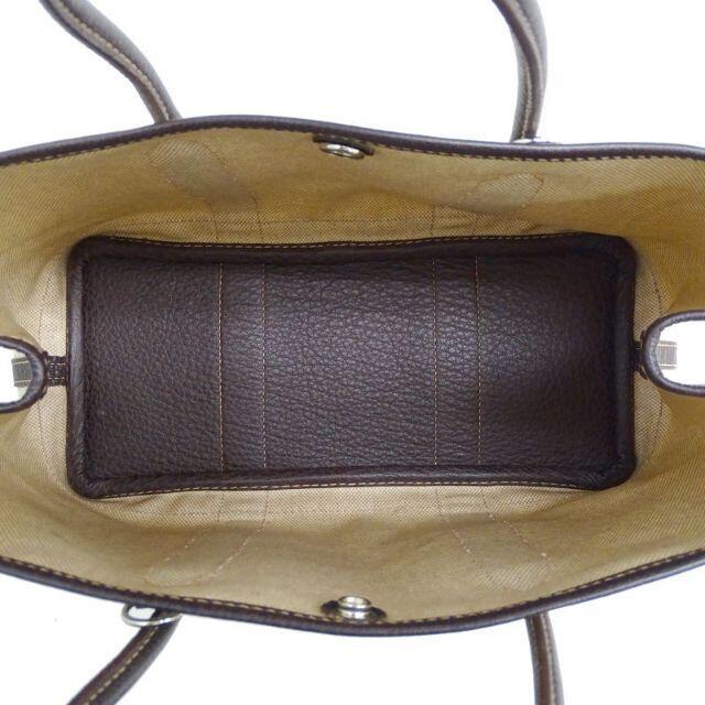 Hermes(エルメス)のエルメス ガーデンパーティTPM トワルアッシュ SV金具 ナチュラル×ブラウン レディースのバッグ(トートバッグ)の商品写真