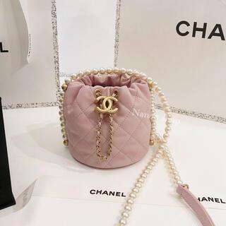 CHANEL - Chanel シャネル2021新作ピンクパールミニバッグ